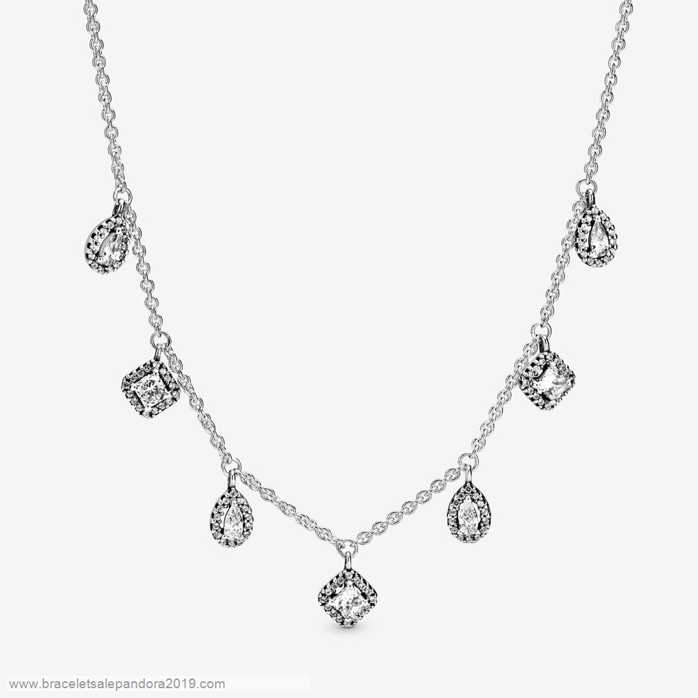 Pandora Store Prices Geometric Shapes Necklace
