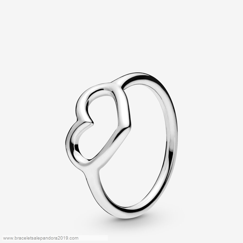 Pandora Store Prices Polished Open Heart Ring