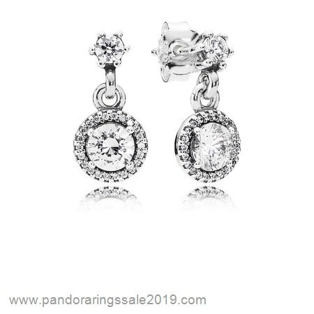 Pandora Store Prices Pandora Earrings Classic Elegance Drop Earrings Clear Cz