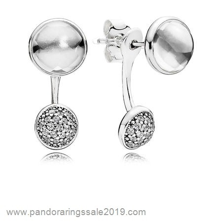 Pandora Store Prices Pandora Earrings Dazzling Poetic Droplets Drop Earrings Clear Cz