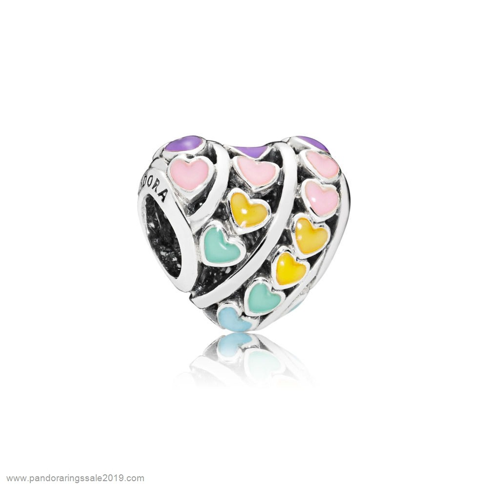 Pandora Store Prices Rainbow Hearts Charm