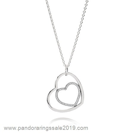 Pandora Store Prices Pandora Chains With Pendant Heart To Heart Pendant Necklace Clear Cz