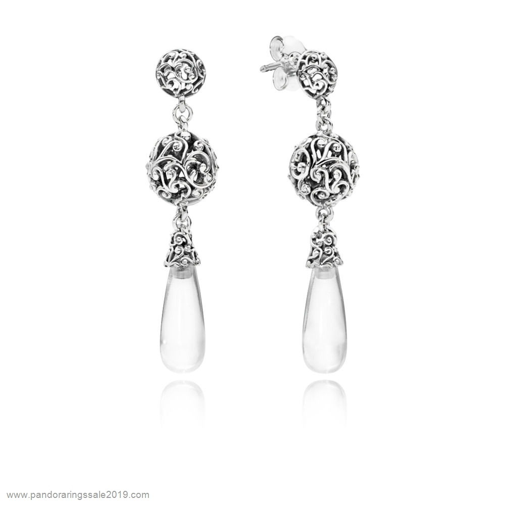 Pandora Store Prices Regal Droplets Hanging Earrings