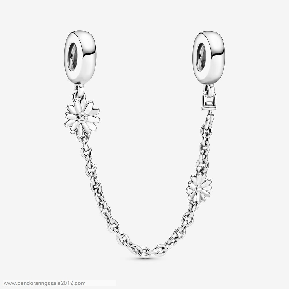 Pandora Store Prices Daisy Flower Safety Chain Charm