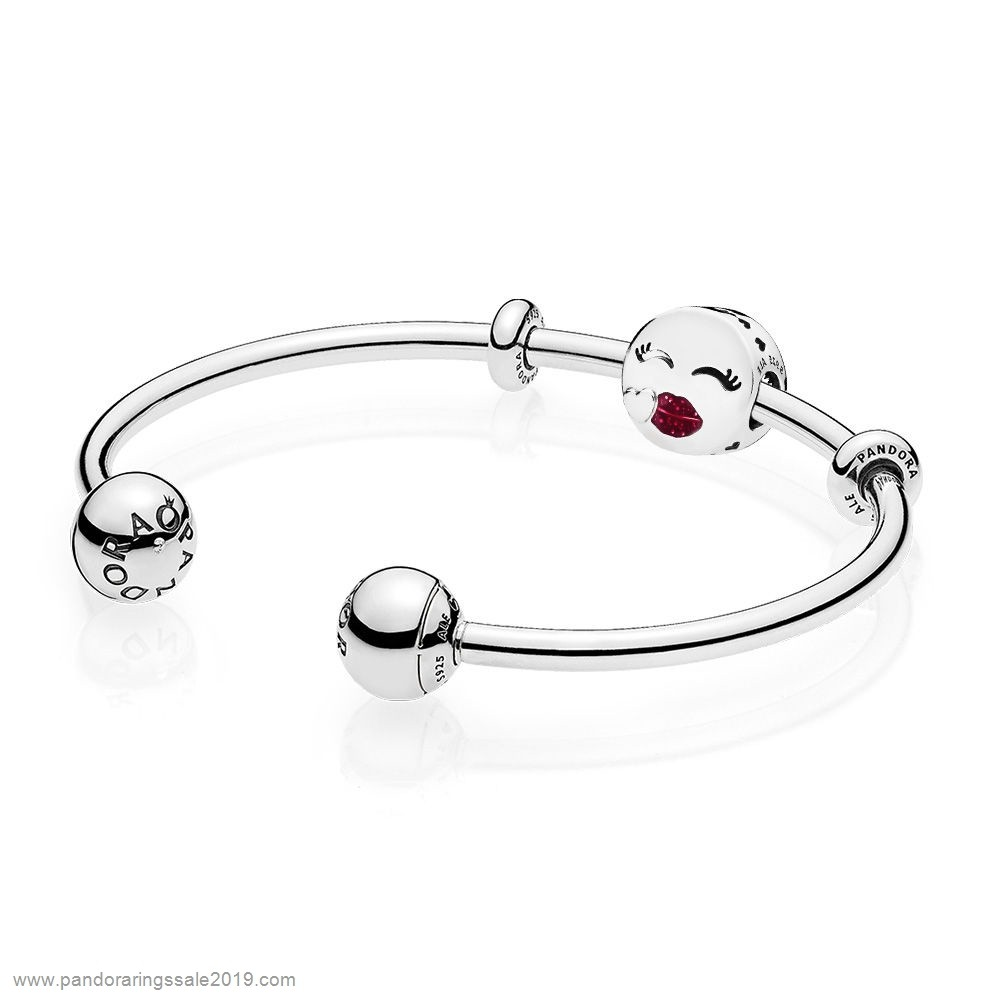 Pandora Store Prices Cute Kiss Open Bangle Gift Set