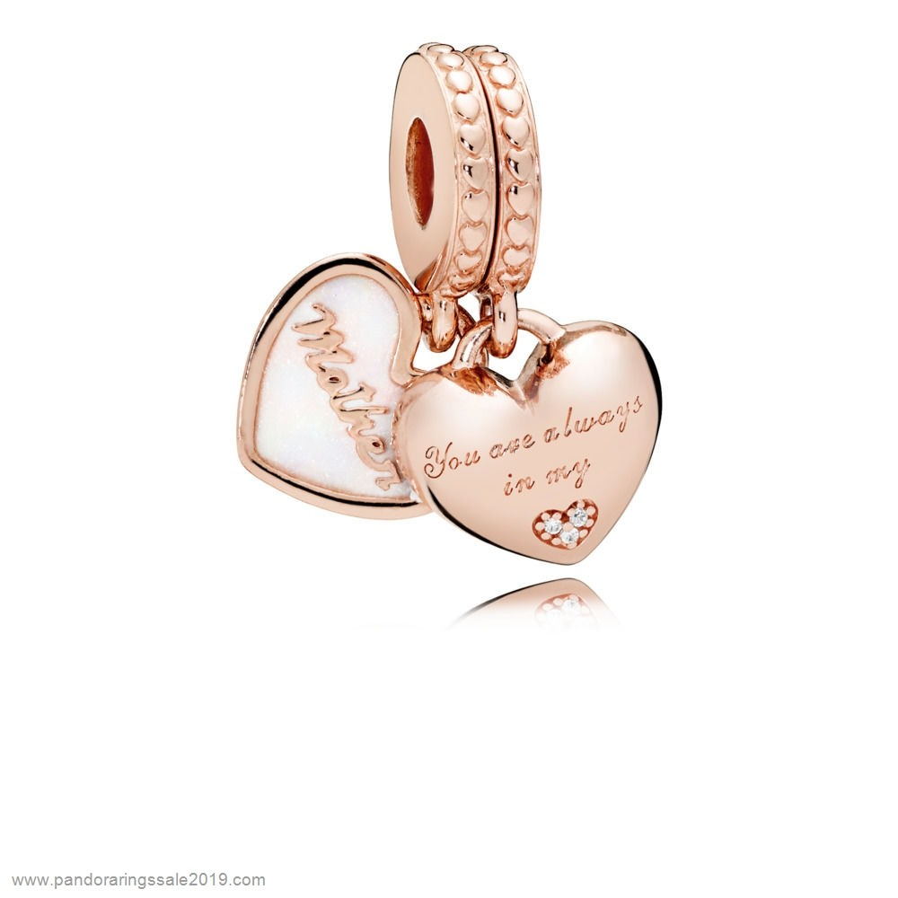 Pandora Store Prices Pandora Rose Mother And Daughter Hearts Hanging Charm