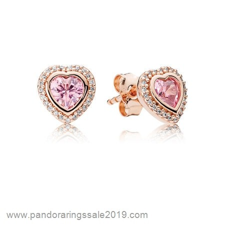 Pandora Store Prices Pandora Earrings Sparkling Love Stud Earrings Pandora Rose Pink Clear Cz