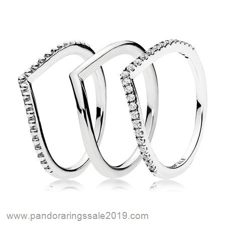Pandora Store Prices Inspiration Wishbone Ring Stack