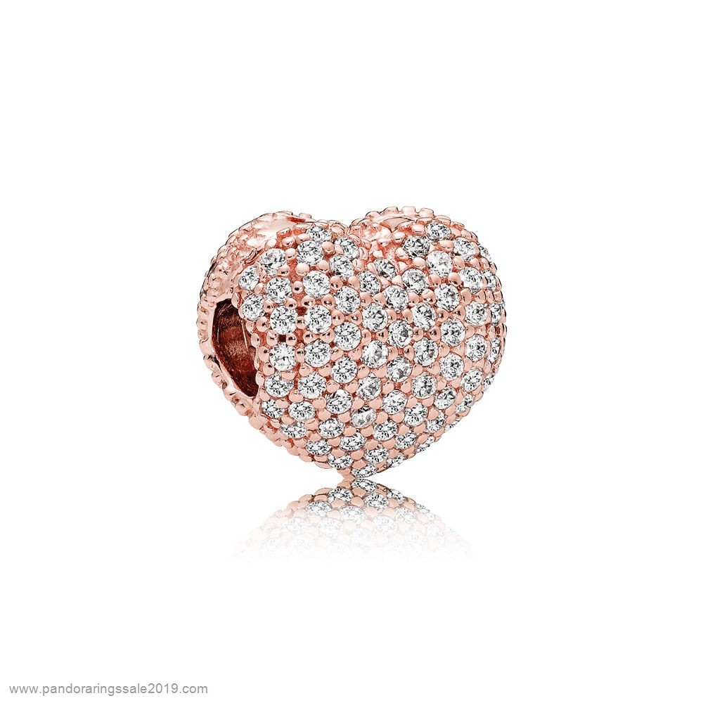 Pandora Store Prices Pandora Sparkling Paves Charms Pave Open My Heart Clip Pandora Rose Clear Cz