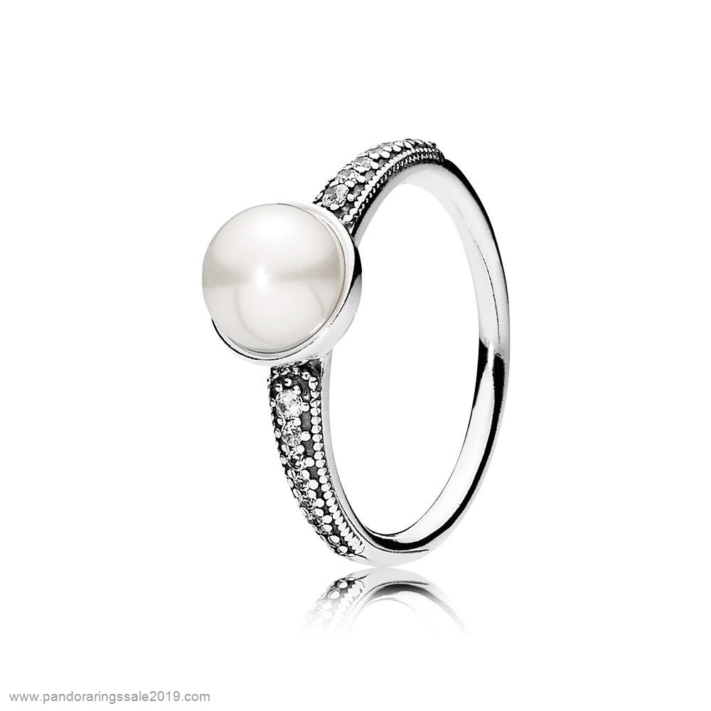 Pandora Store Prices Pandora Rings Elegant Beauty Ring White Pearl Clear Cz