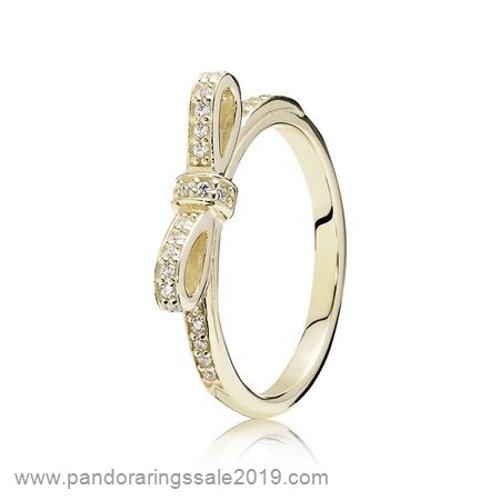 Pandora Store Prices Pandora Rings Sparkling Bow Ring Clear Cz 14K Gold