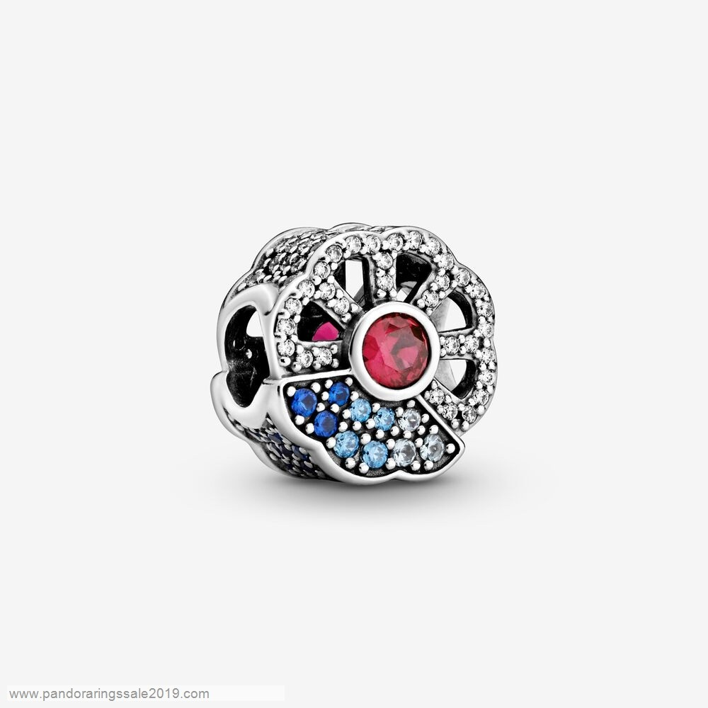 Pandora Store Prices Blue & Pink Fan Charm